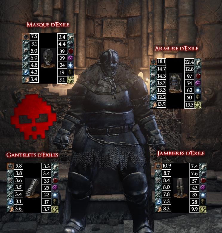 Exilé Dark Souls III WAR LEGEND copie