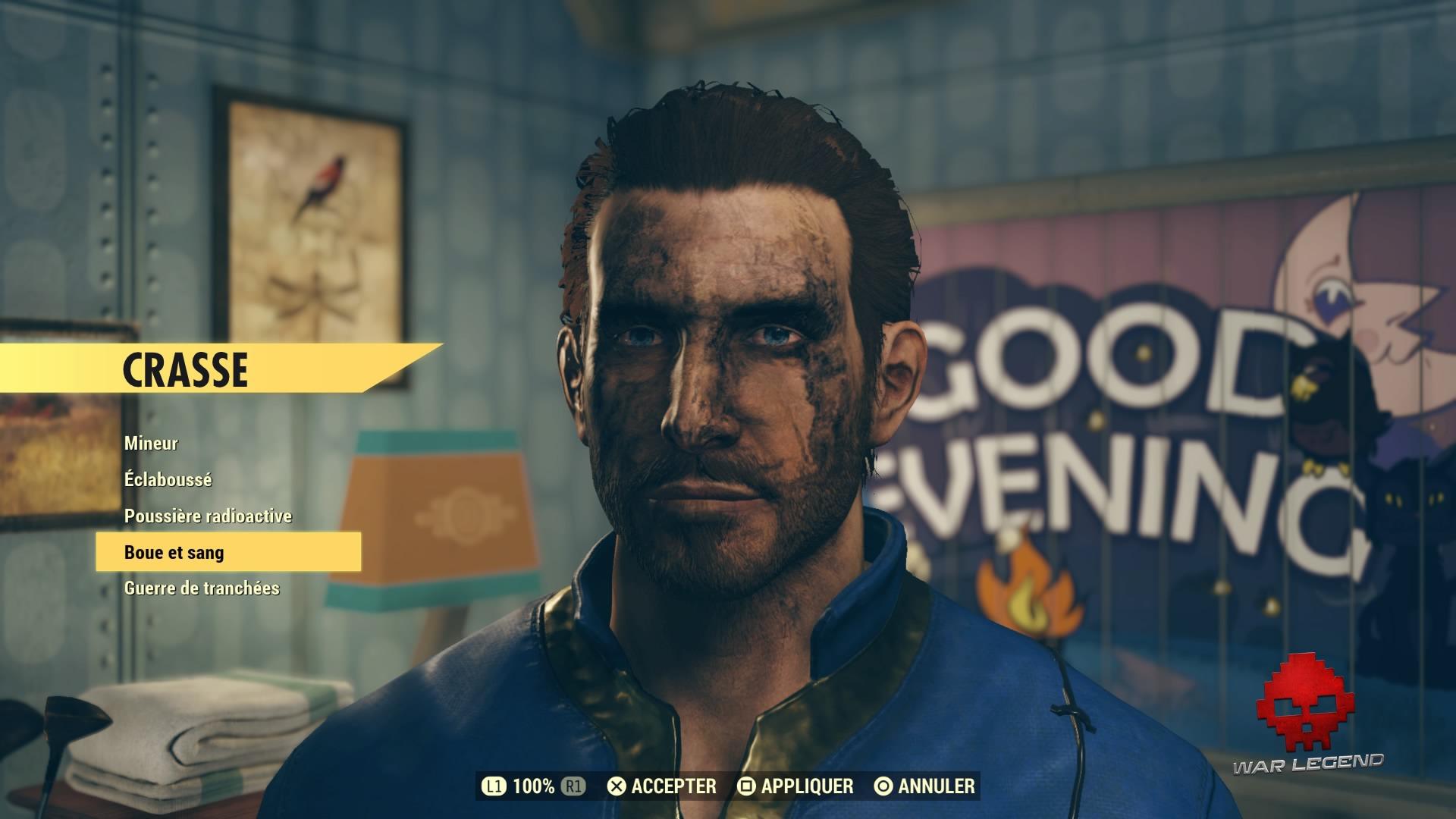 Fallout 76 création de personnage