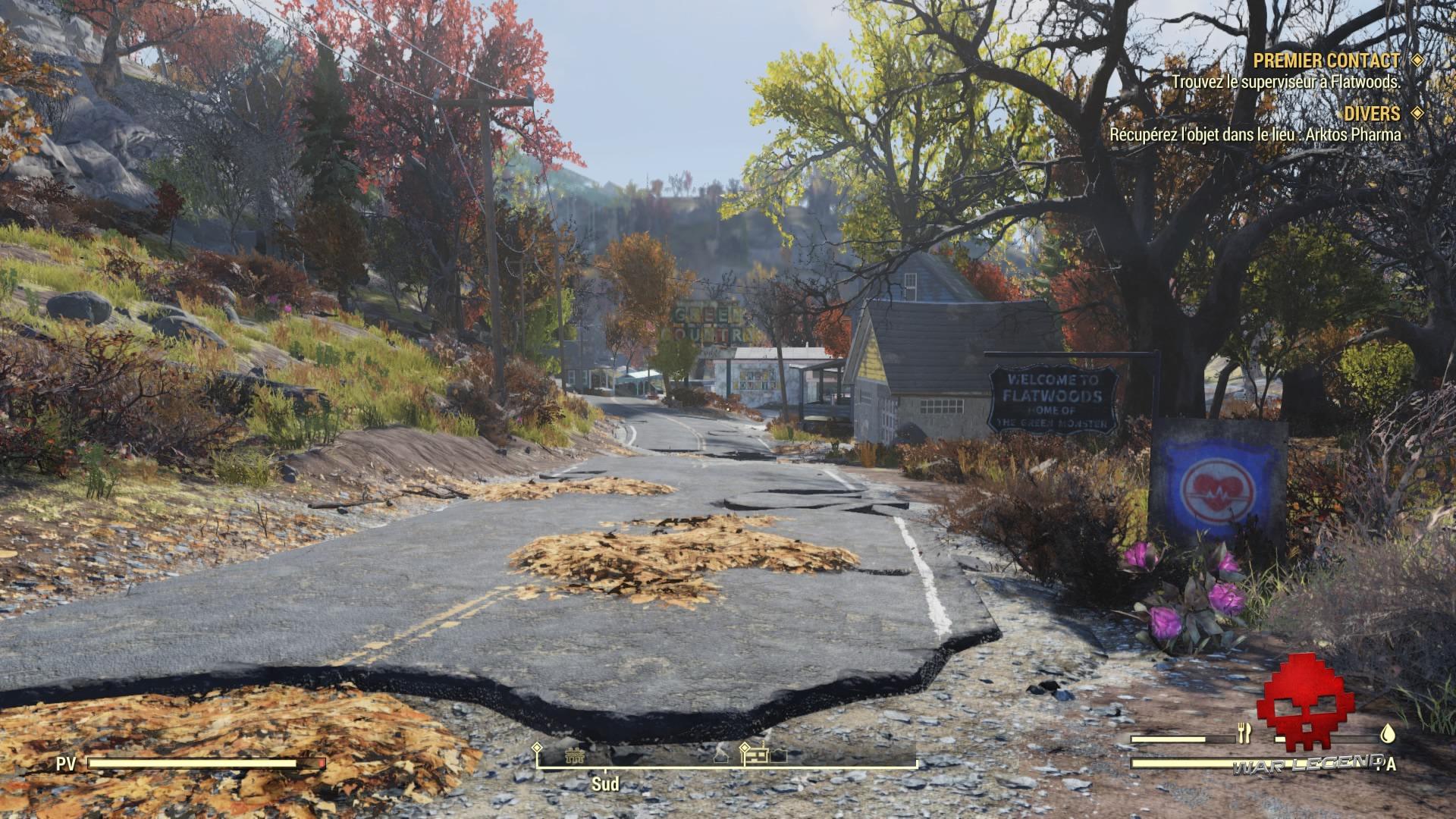 Fallout 76 bienvenu à flatwoods