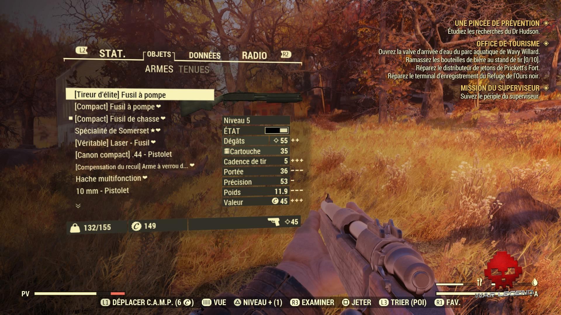 Fallout 76 l'interface du pip-boy