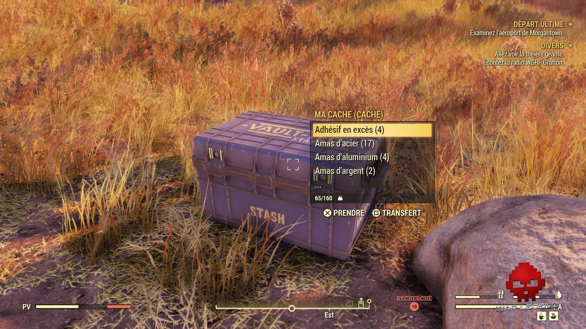 Fallout 76 le coffre de stockage