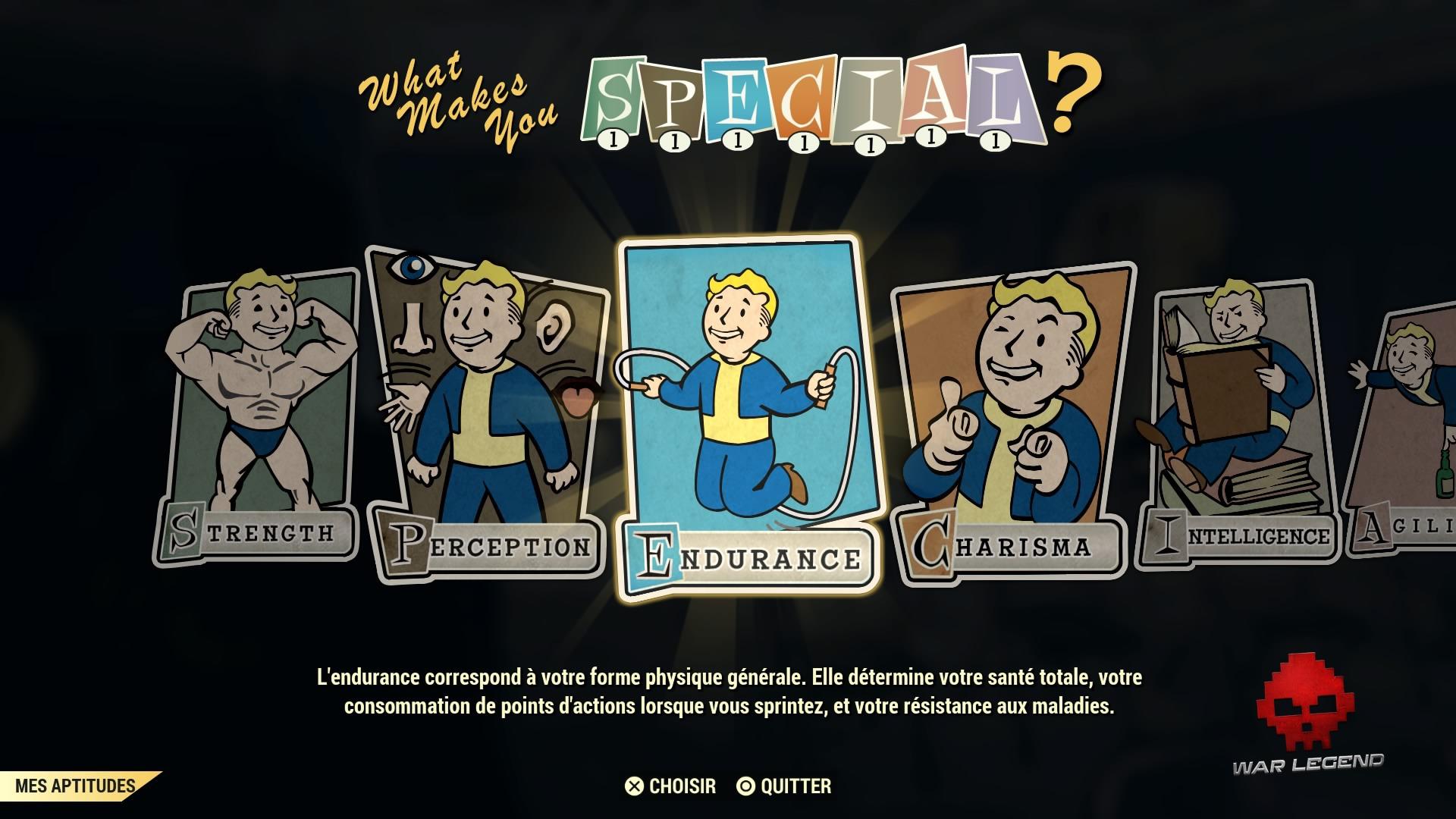 Fallout 76 les caractéristiques