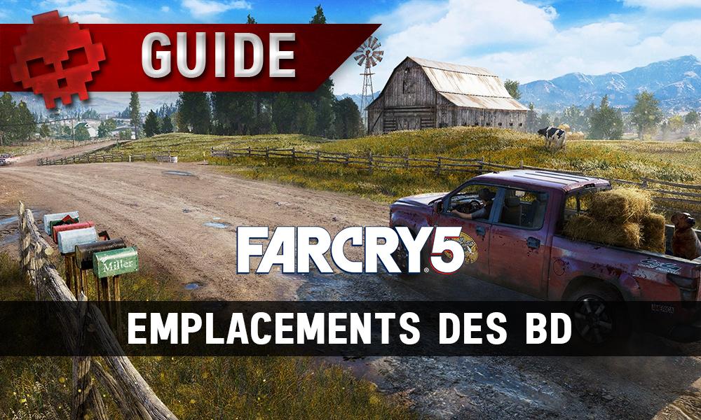 Far Cry 5 emplacements des BD
