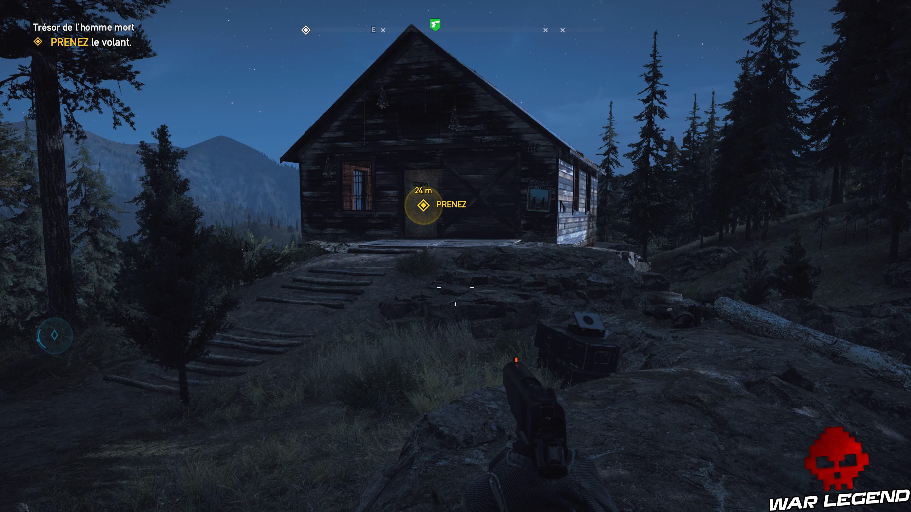 Guide Far Cry 5 - Les caches de survivaliste de la région de Faith (Henbane River) maison