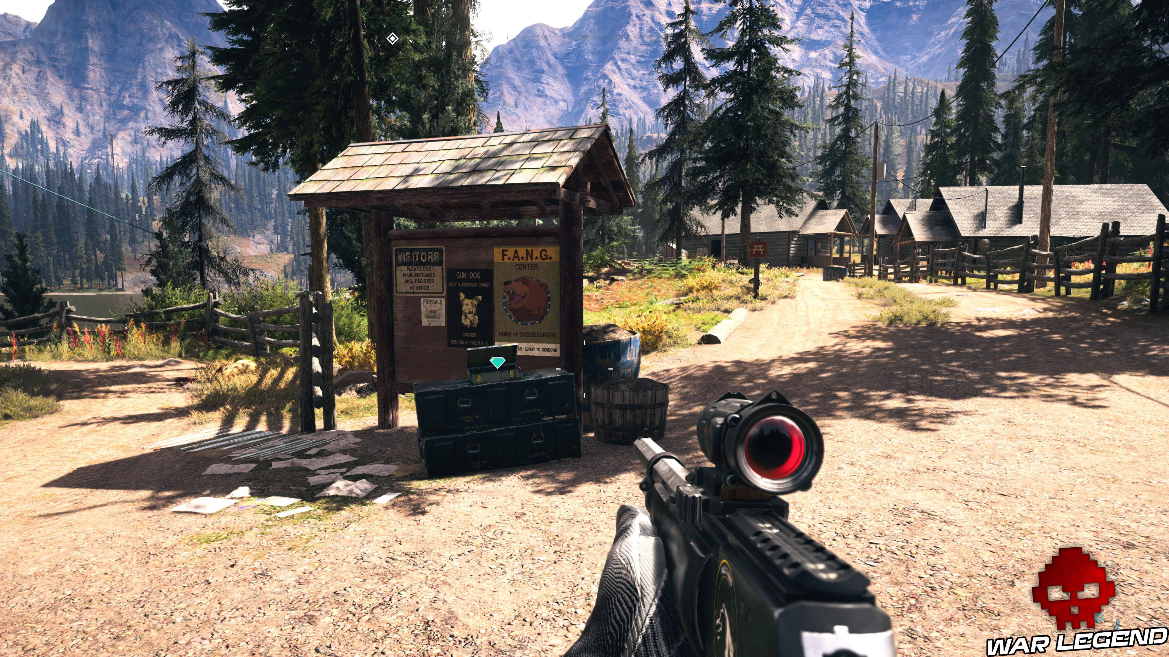 Guide Far Cry 5 - Les caches de survivaliste de la région de Faith (Henbane River) panneau d'affichage