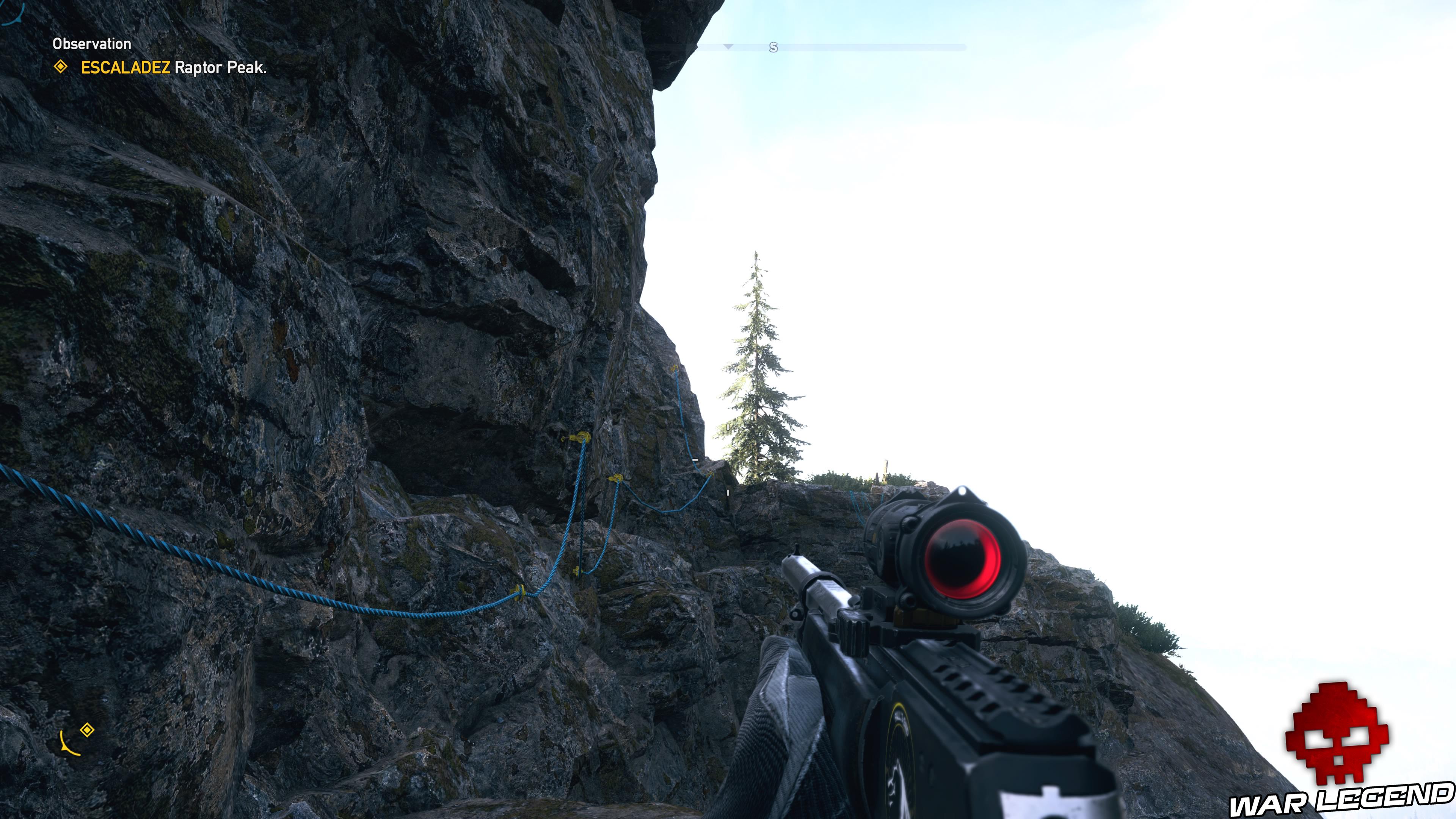 Guide Far Cry 5 - Les caches de survivaliste de la région de Faith (Henbane River) point d'ancrage grappin