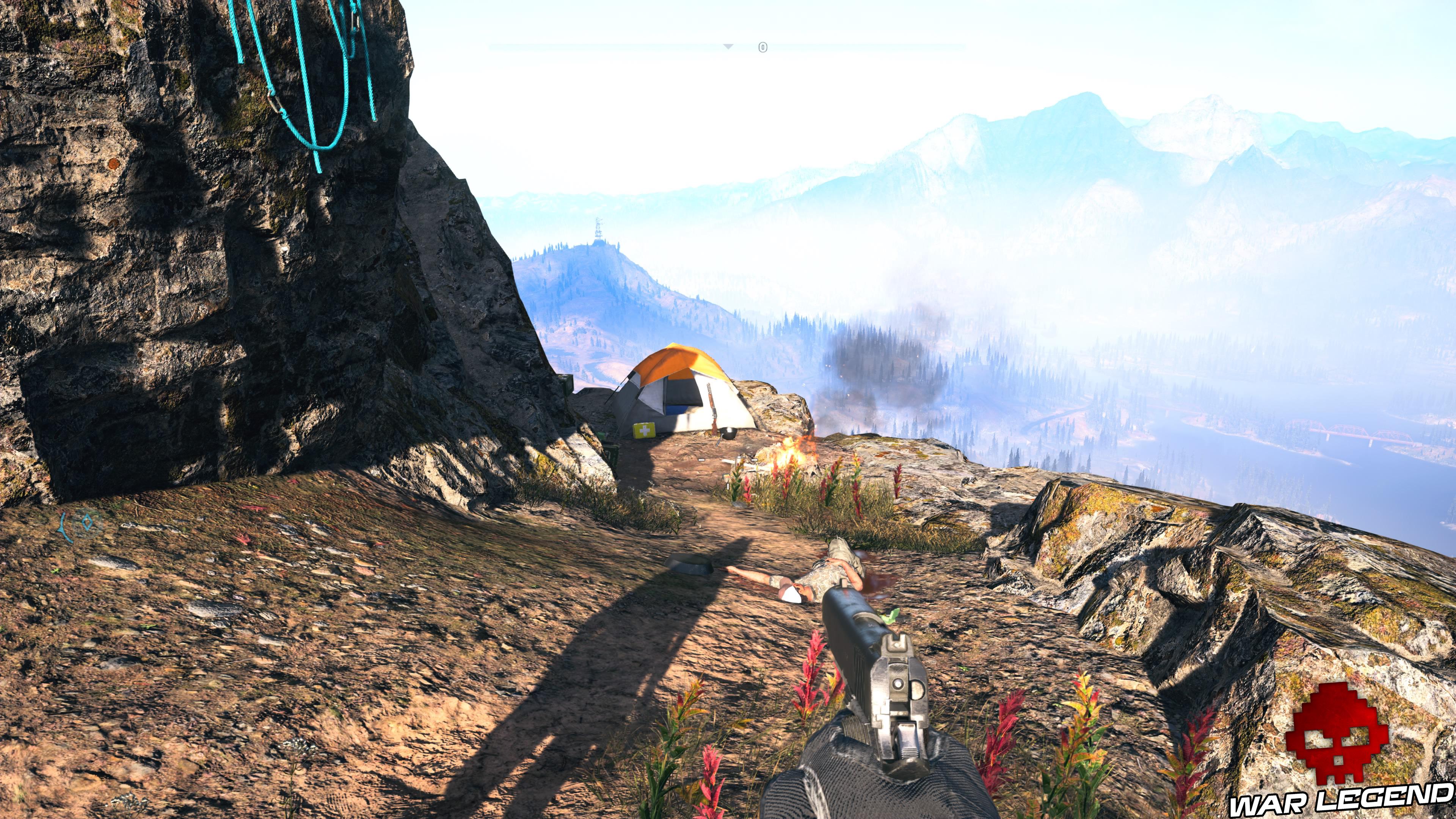 Guide Far Cry 5 - Les caches de survivaliste de la région de Faith (Henbane River) tente