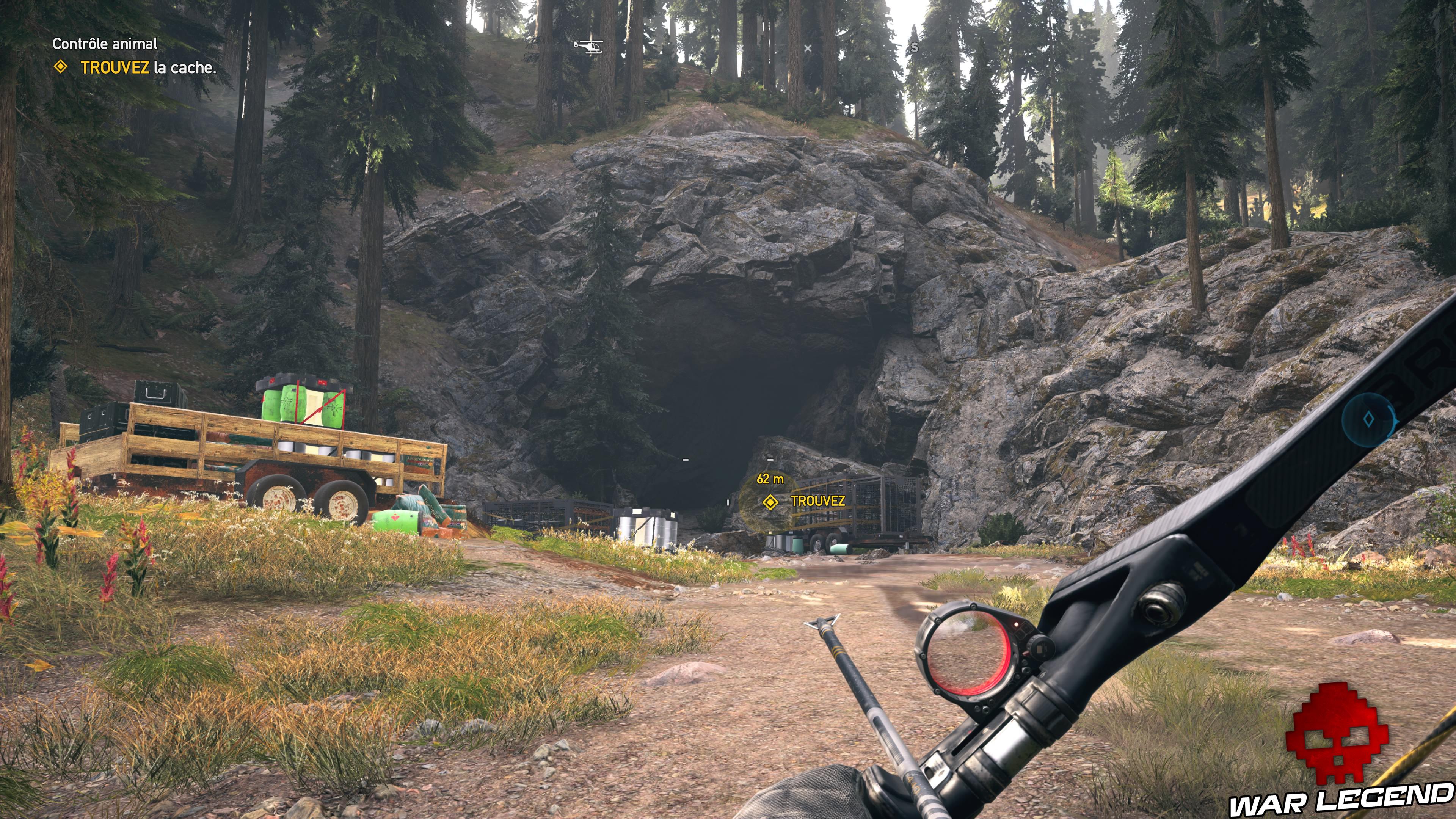 Guide Far Cry 5 - Les caches de survivaliste de la région de Faith (Henbane River) grotte