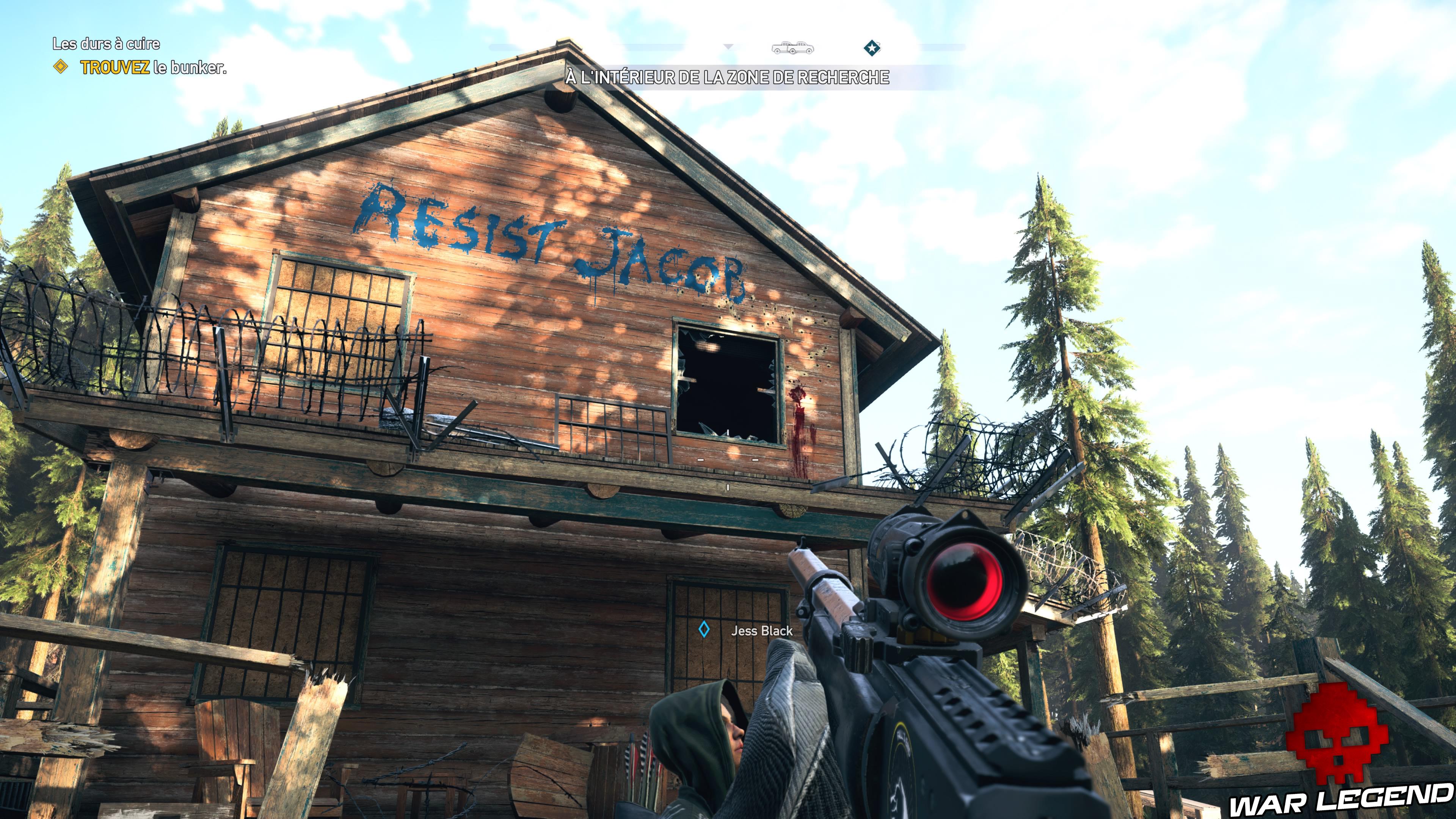 Guide Far Cry 5 - Les caches de survivaliste de la région de Jacob (Whitetail Mountains) trou barbelés