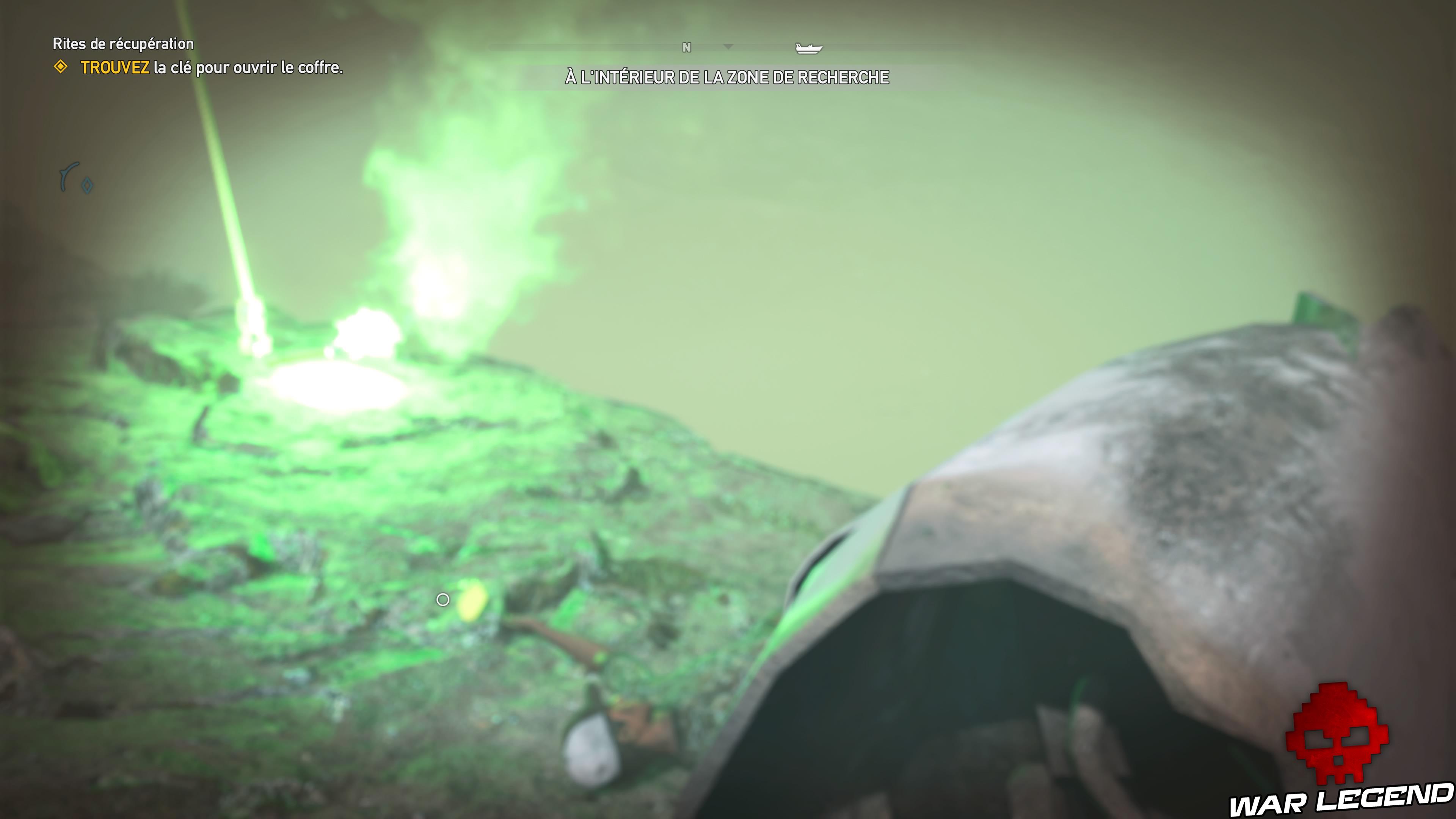 Guide Far Cry 5 - Les caches de survivaliste de la région de Jacob (Whitetail Mountains) fusée verte sous l'eau