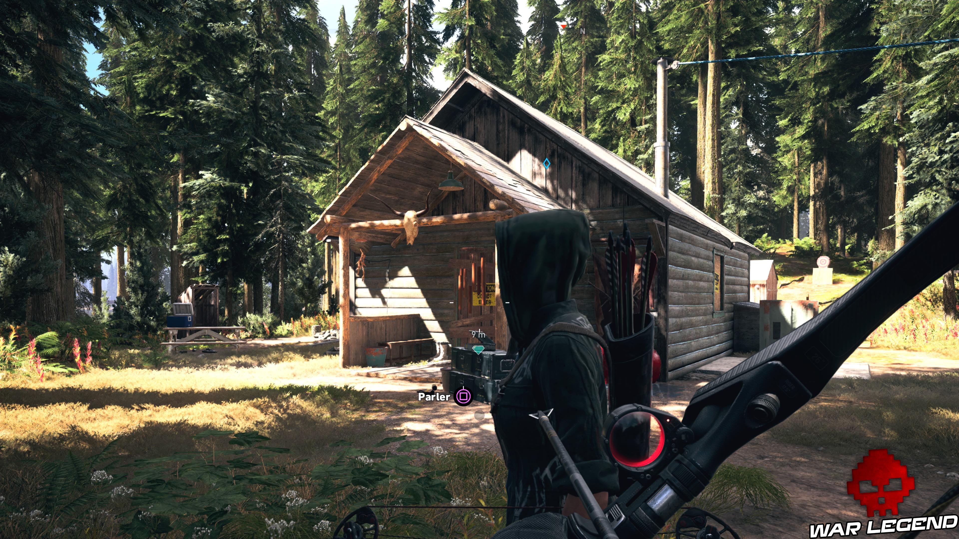 Guide Far Cry 5 - Les caches de survivaliste de la région de Jacob (Whitetail Mountains) cabine