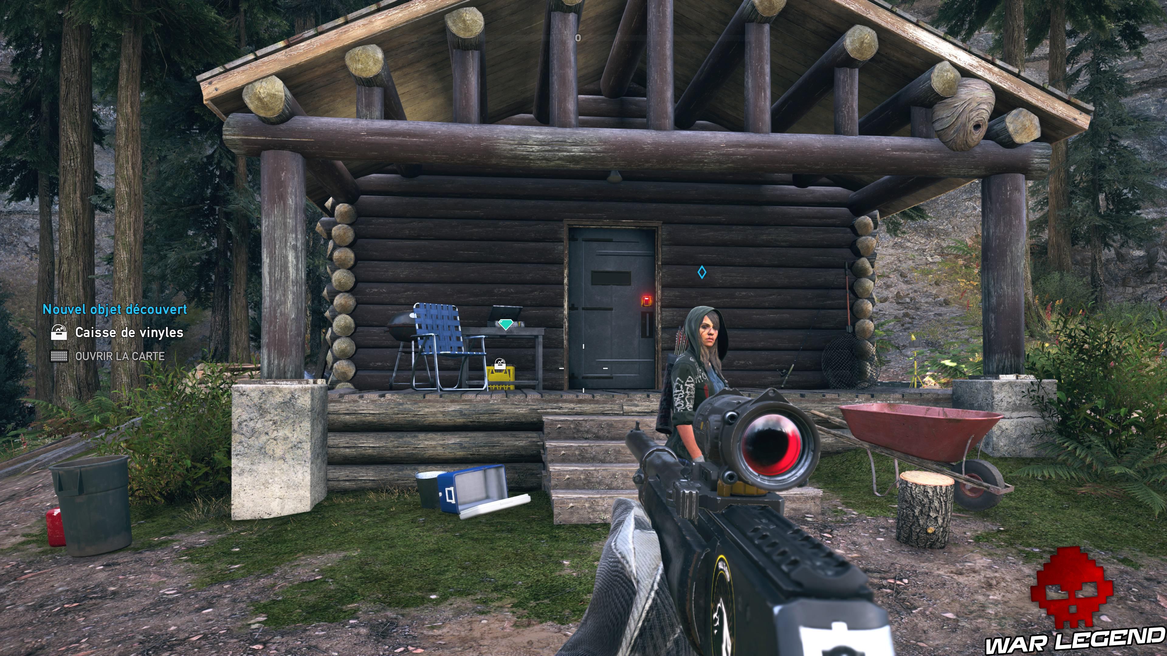 Guide Far Cry 5 - Les caches de survivaliste de la région de Jacob (Whitetail Mountains) chalet