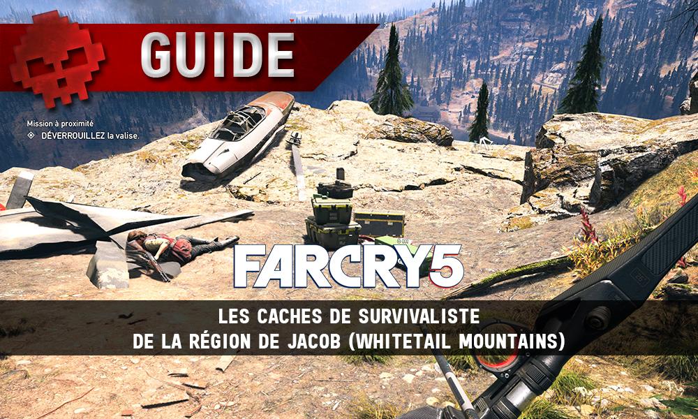 Far Cry 5 guide caches survivaliste Jacob vignette
