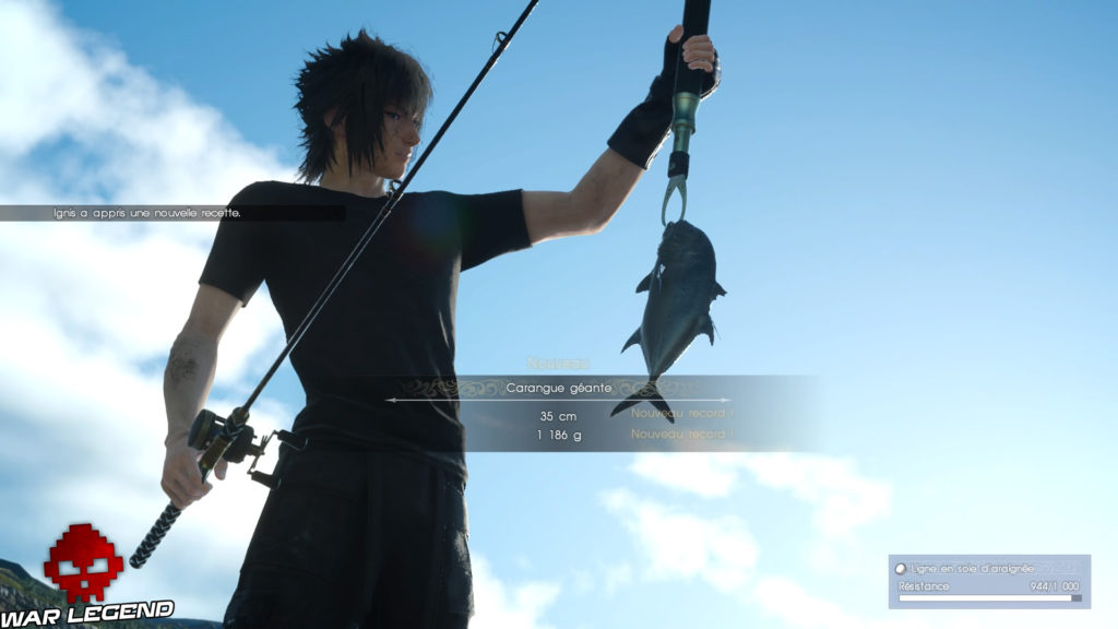 Test Final Fantasy XV pêche Noctis