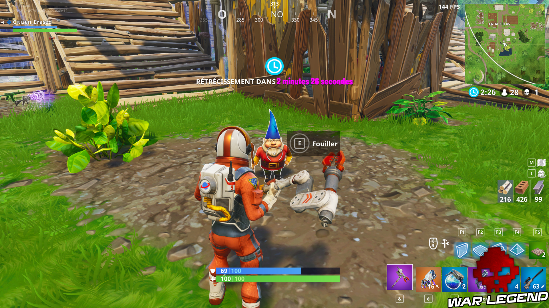 fortnite gnome - enregistrer partie fortnite ps4