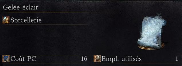 Dark Souls 3: Ashes of Ariandel - Tous les sorts gelée éclair