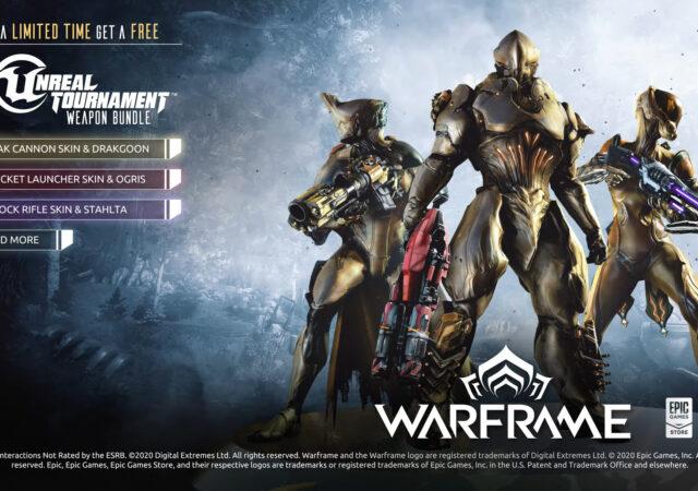 Warframe Epic Games store trailer