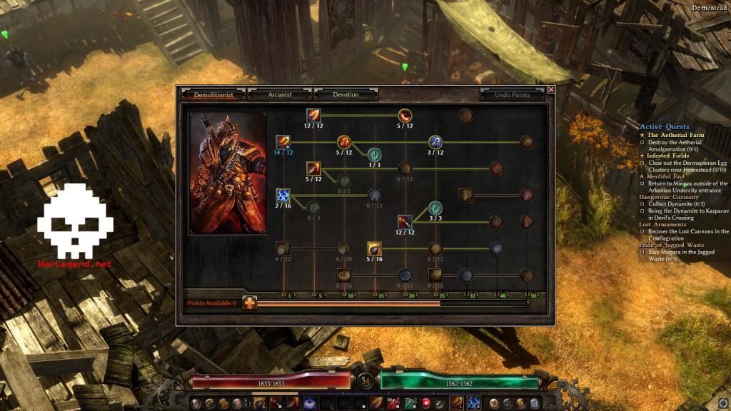 Grim dawn skill points