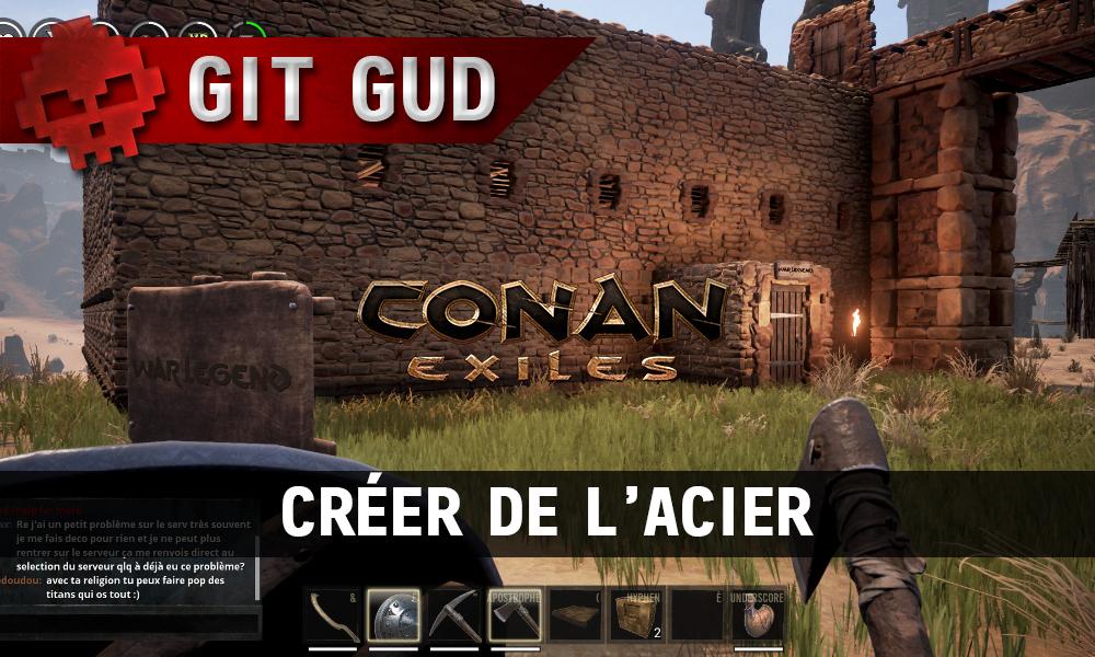 Conan Exiles - Créer de l'acier maison War Legend
