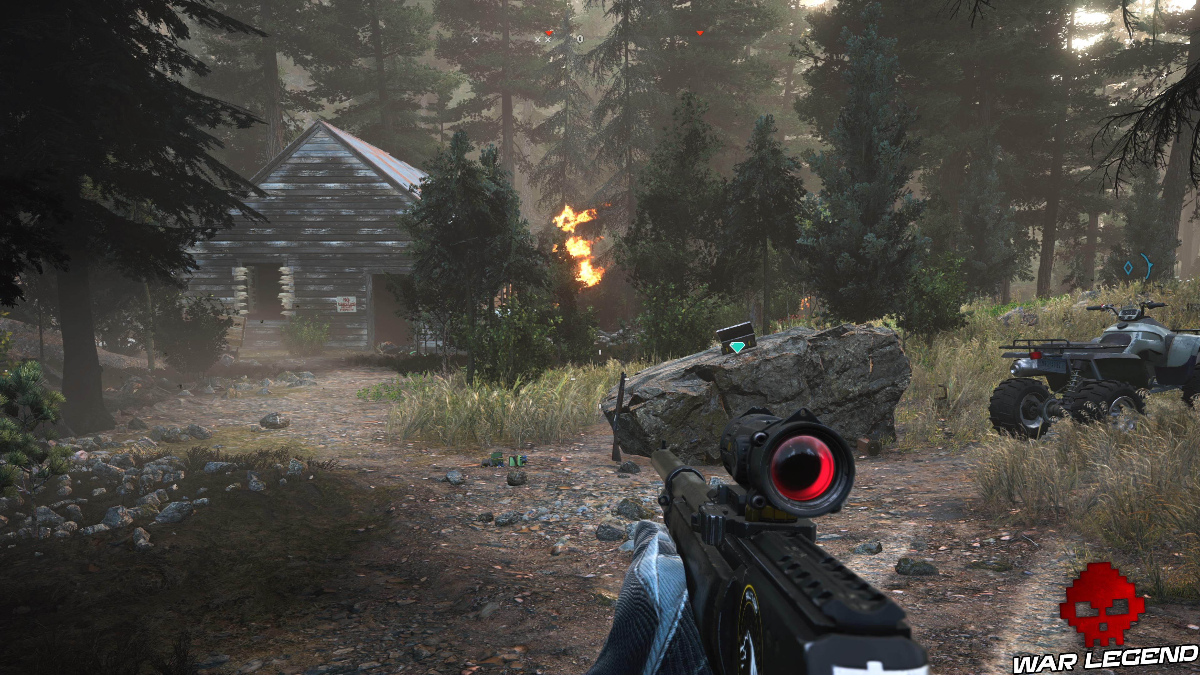 Guide Far Cry 5 caches survivalistes région de John maison abandonnée