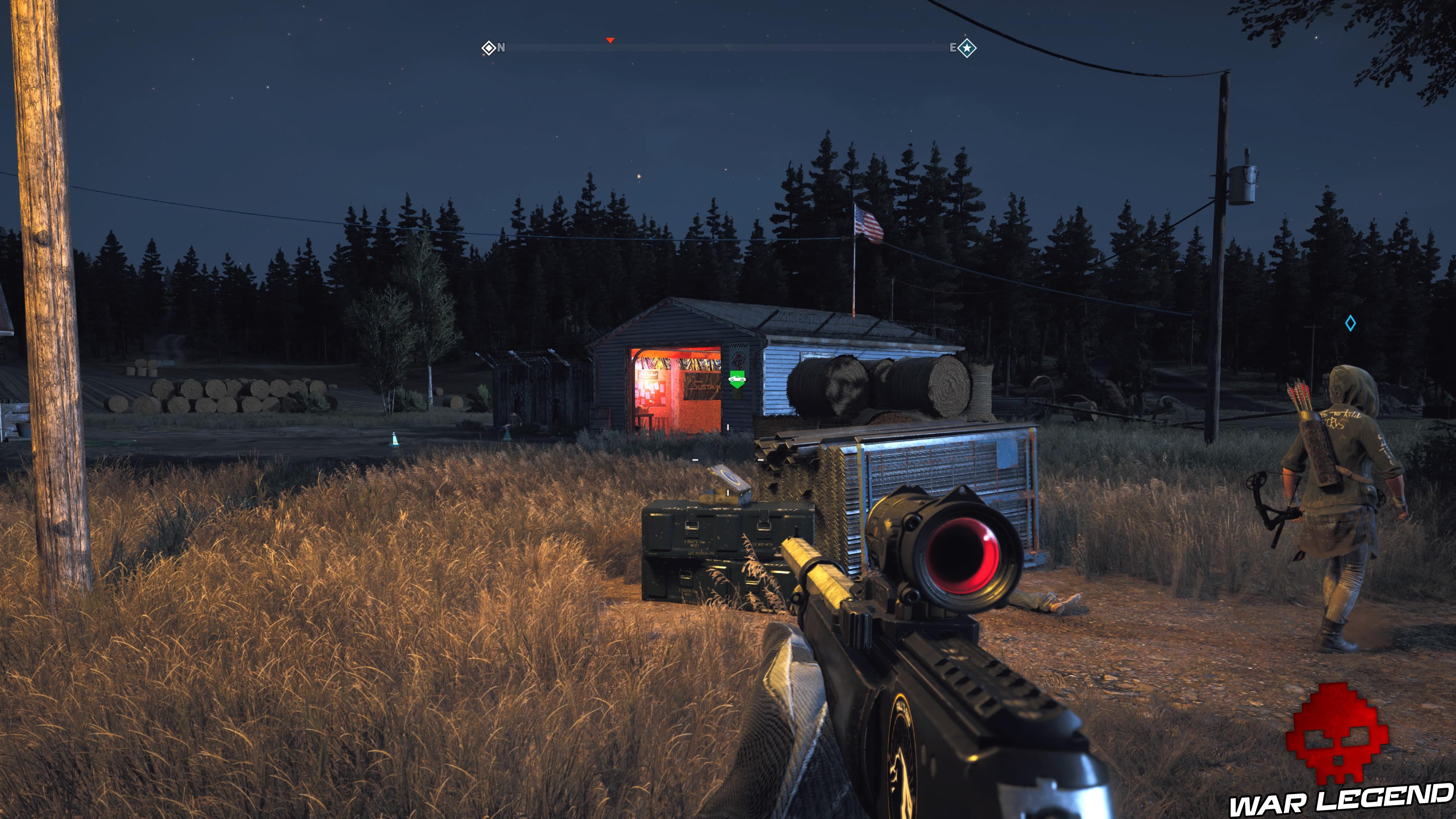 Guide Far Cry 5 caches survivalistes région de John garage