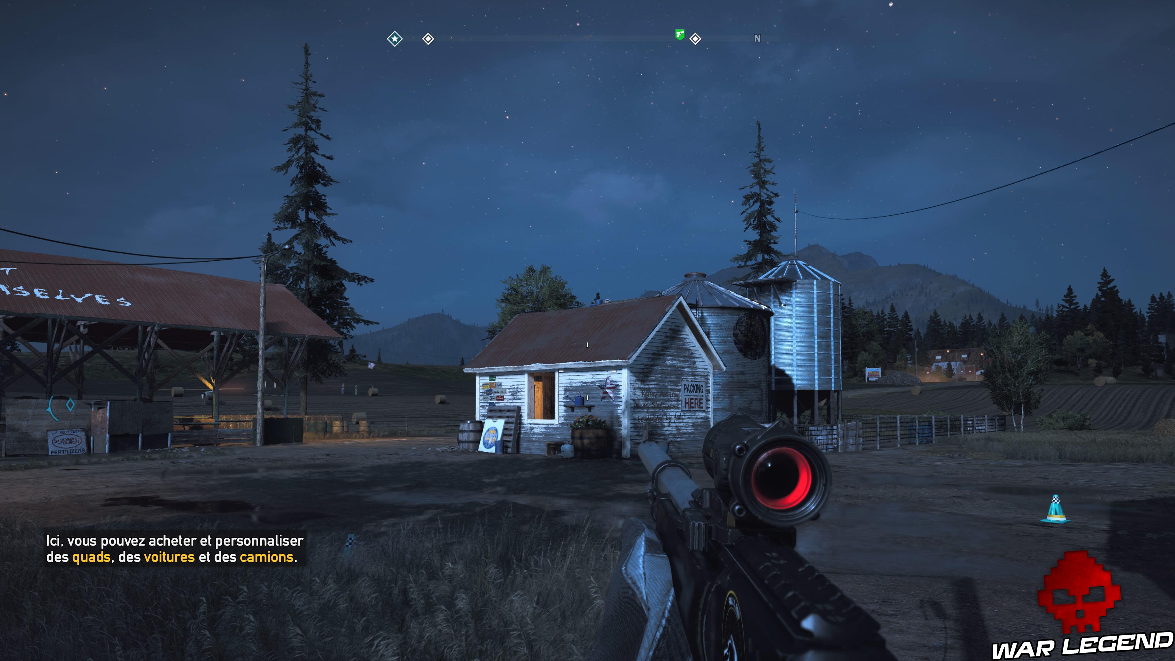 Guide Far Cry 5 caches survivalistes région de John silo