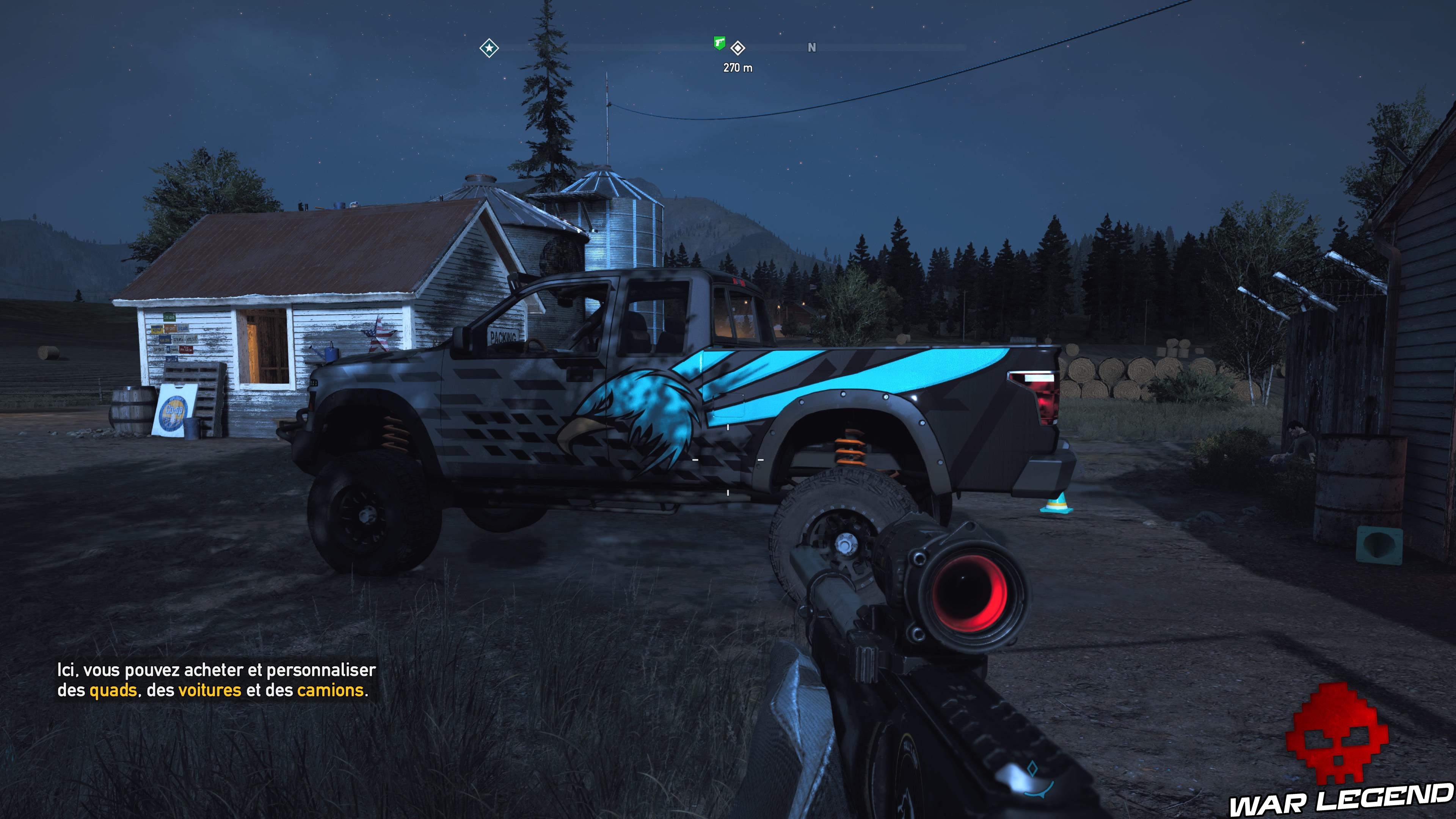 Guide Far Cry 5 caches survivalistes région de John kimberlite