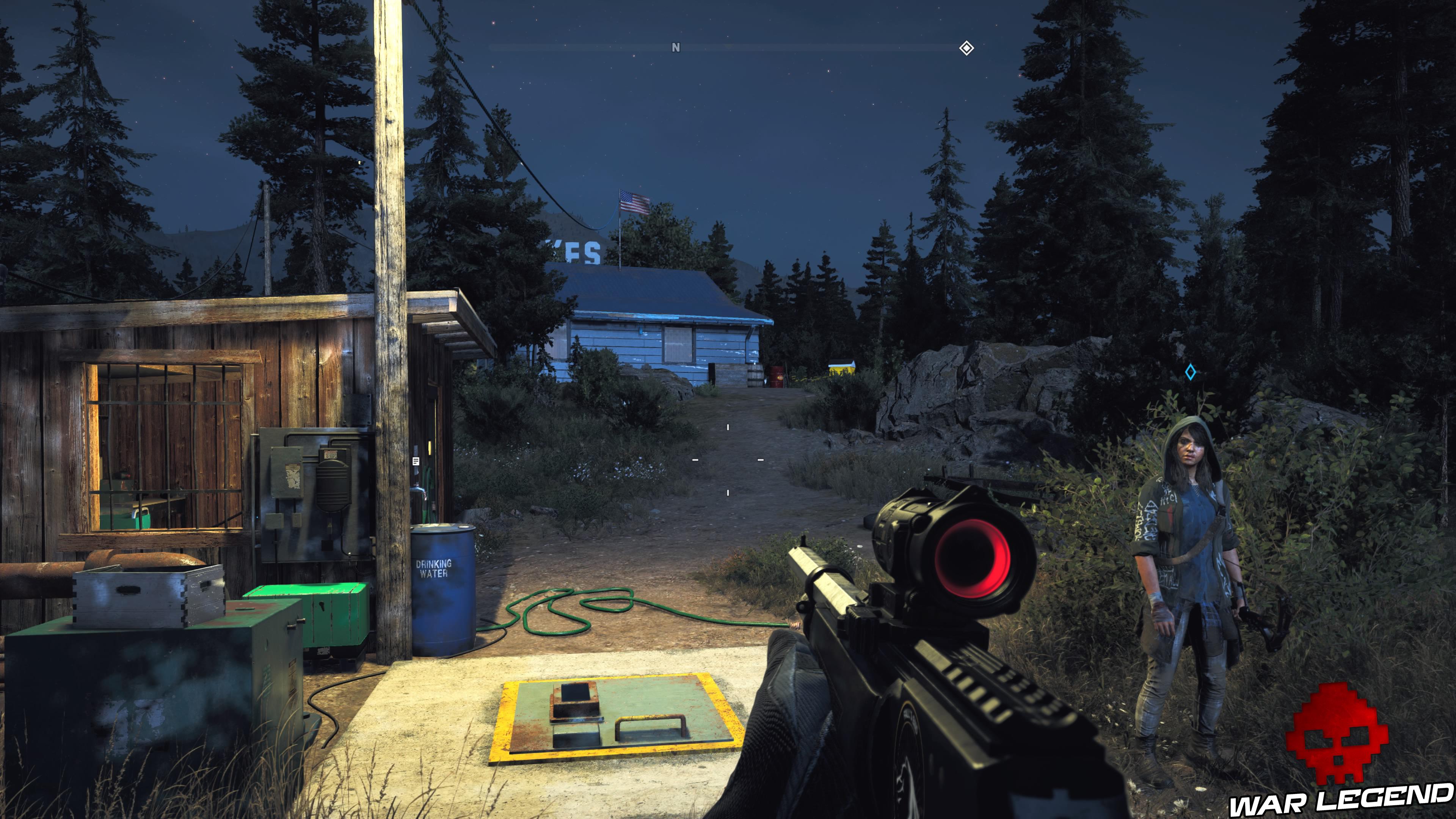 Guide Far Cry 5 caches survivalistes région de John trappe