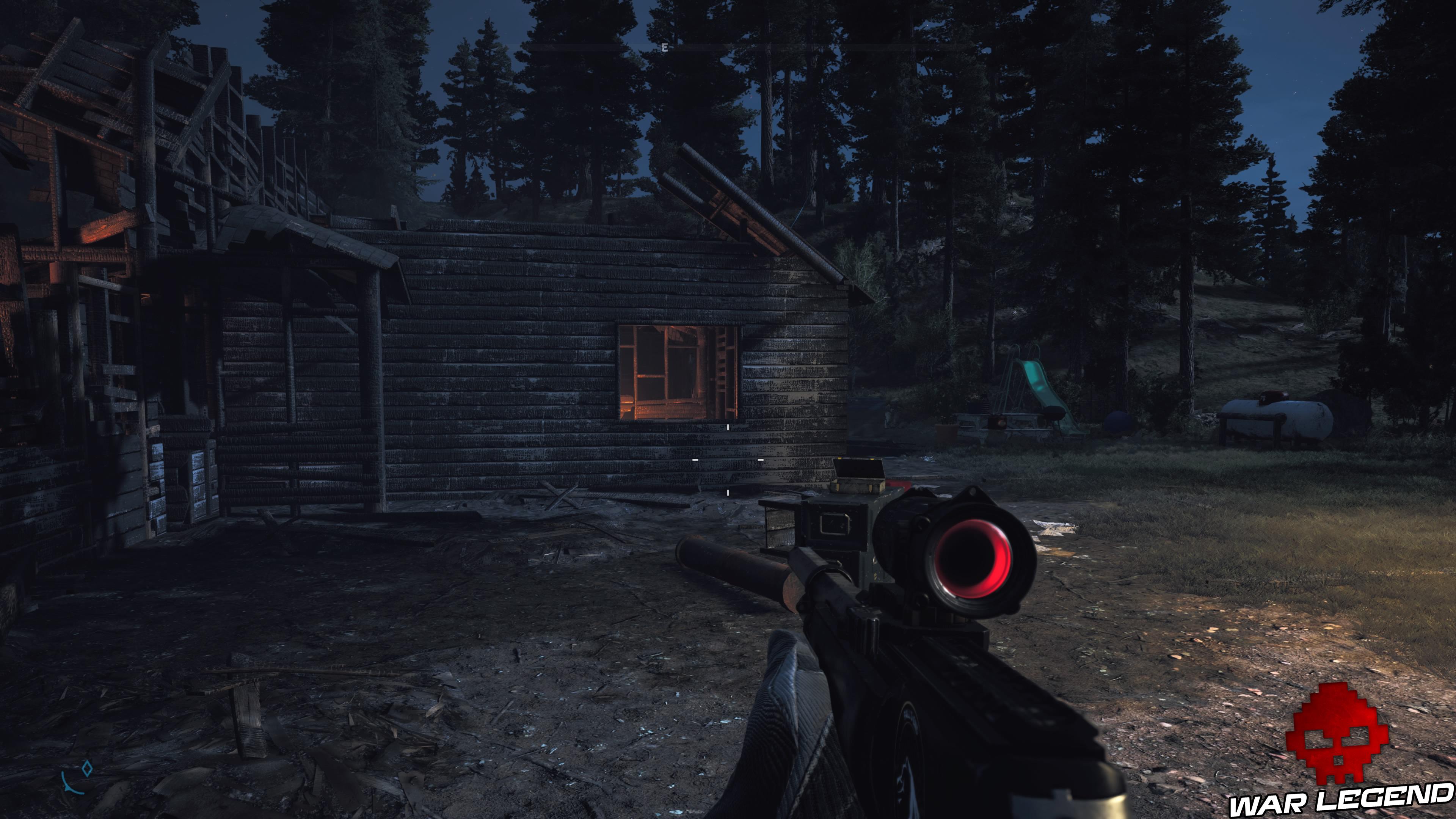 Guide Far Cry 5 caches survivalistes région de John maison incendiée