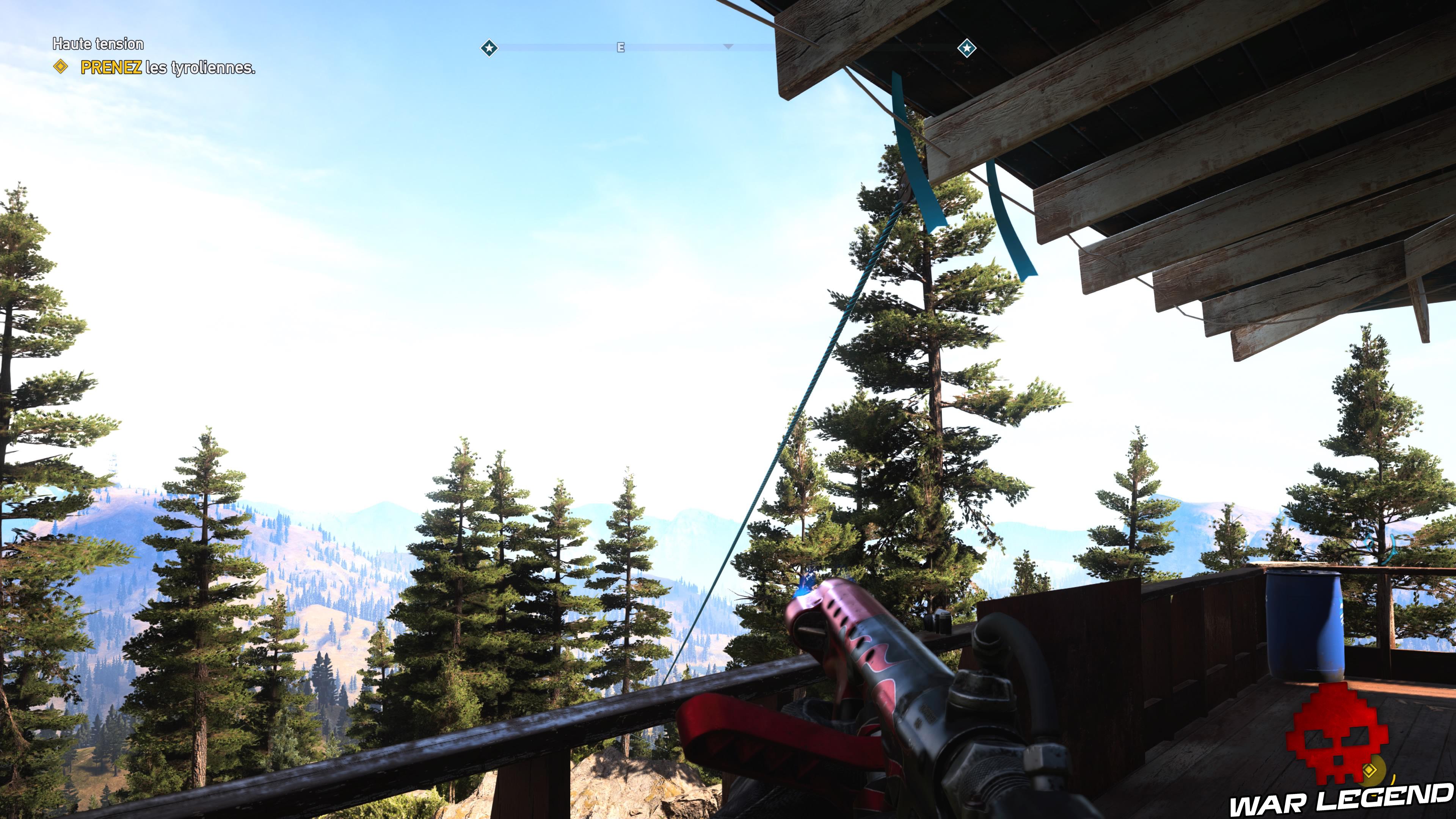 Guide Far Cry 5 caches survivalistes région de John tyrolienne tour de garde