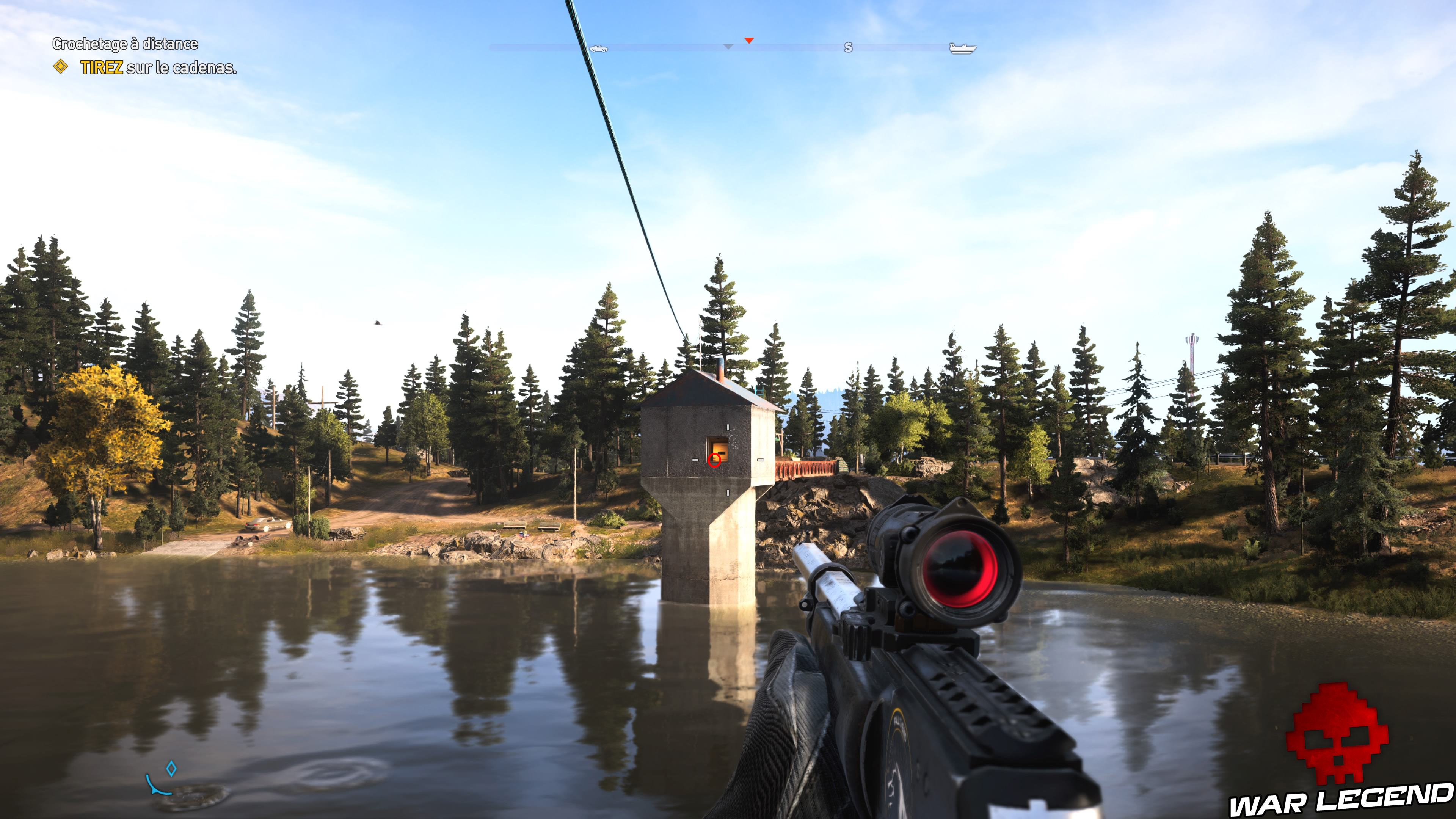 Guide Far Cry 5 caches survivalistes région de John lac