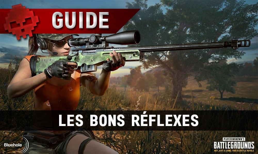 Guide pubg vignette les bons réflexes, femme à genoux en train de sniper
