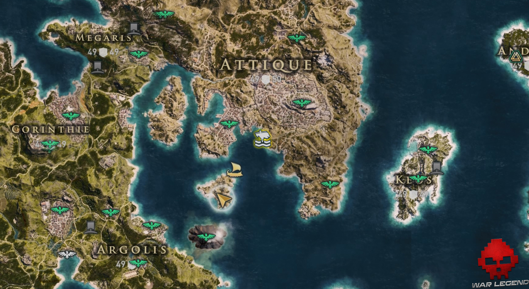 Guide assassin's creed odyssey emplacement athéniens