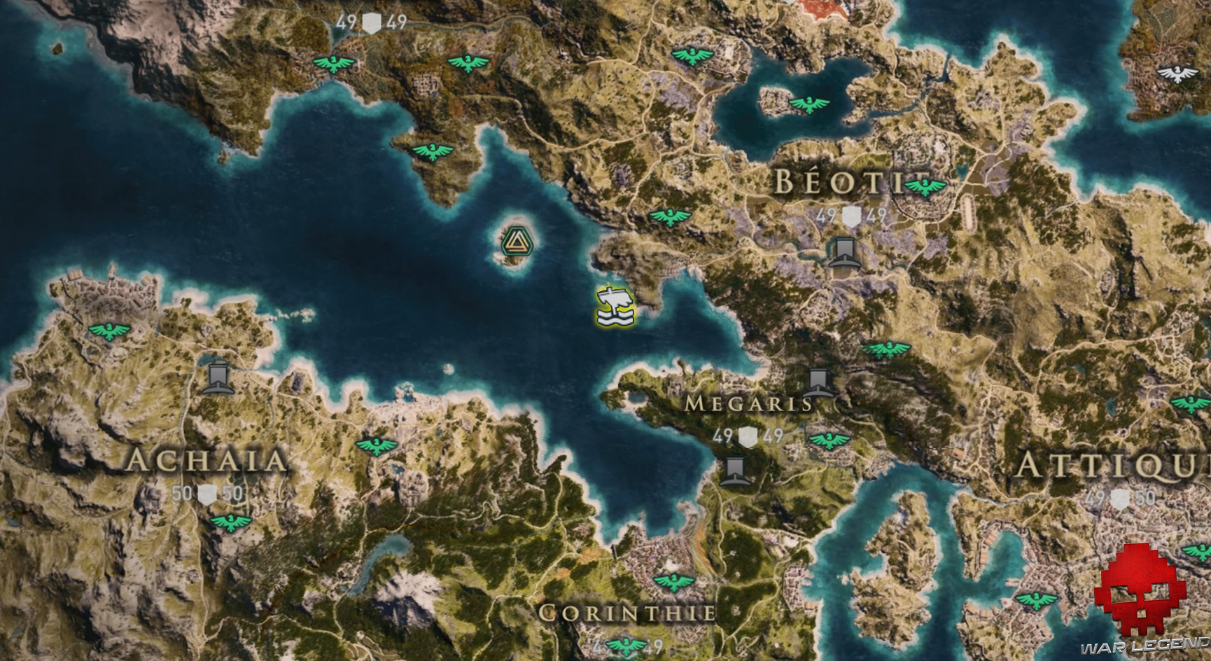 Guide assassin's creed odyssey emplacement lion