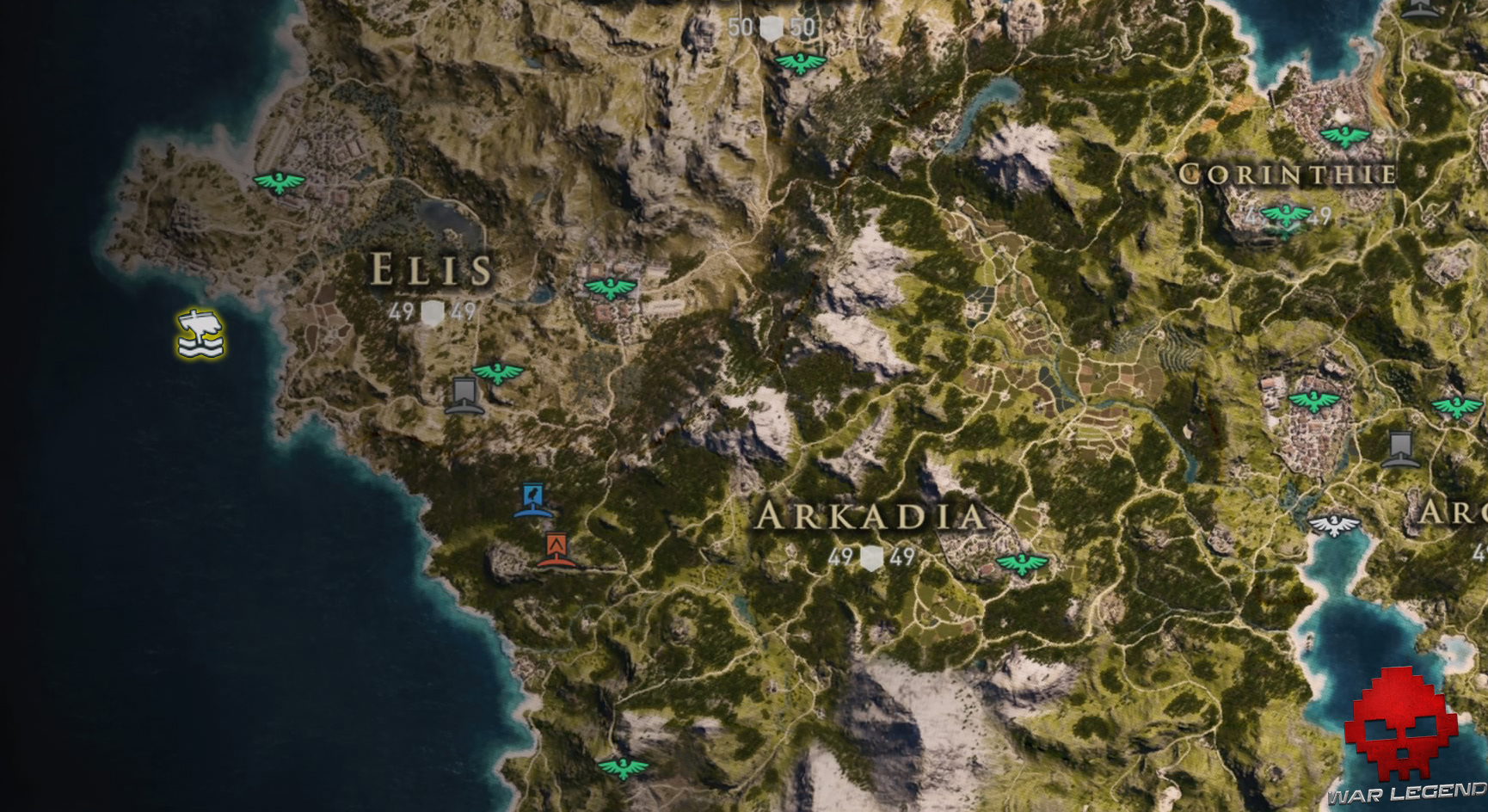 Guide assassin's creed odyssey emplacement pégase