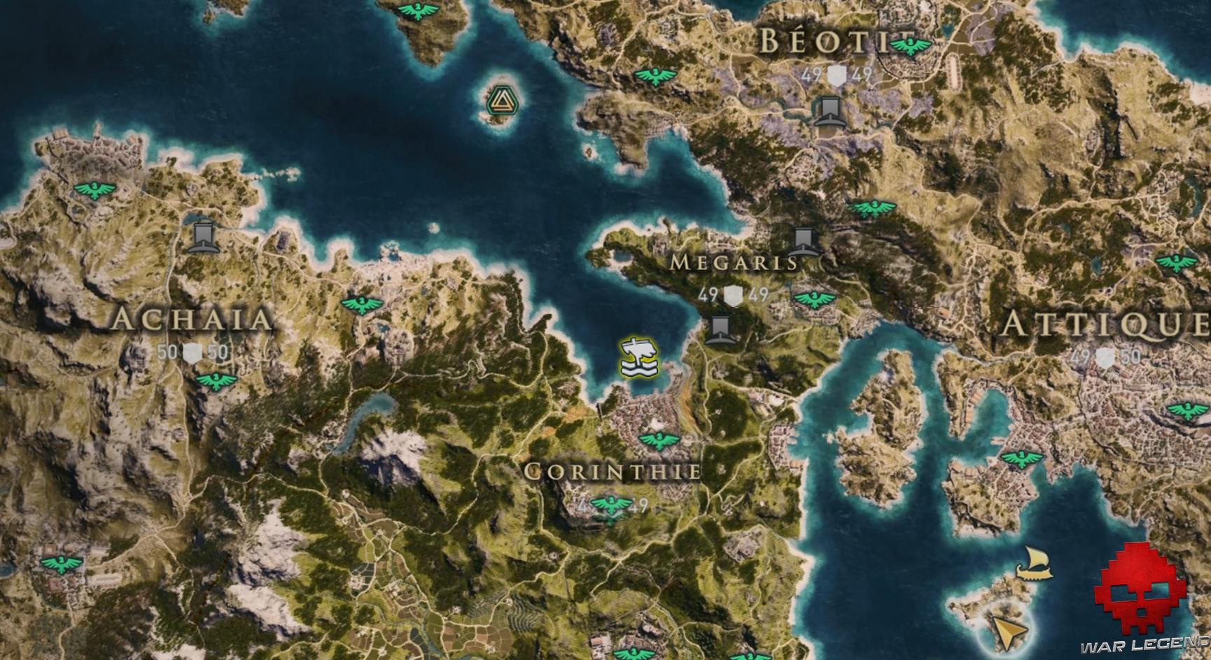 Guide assassin's creed odyssey emplacement prototype de trirème d'aménioclès