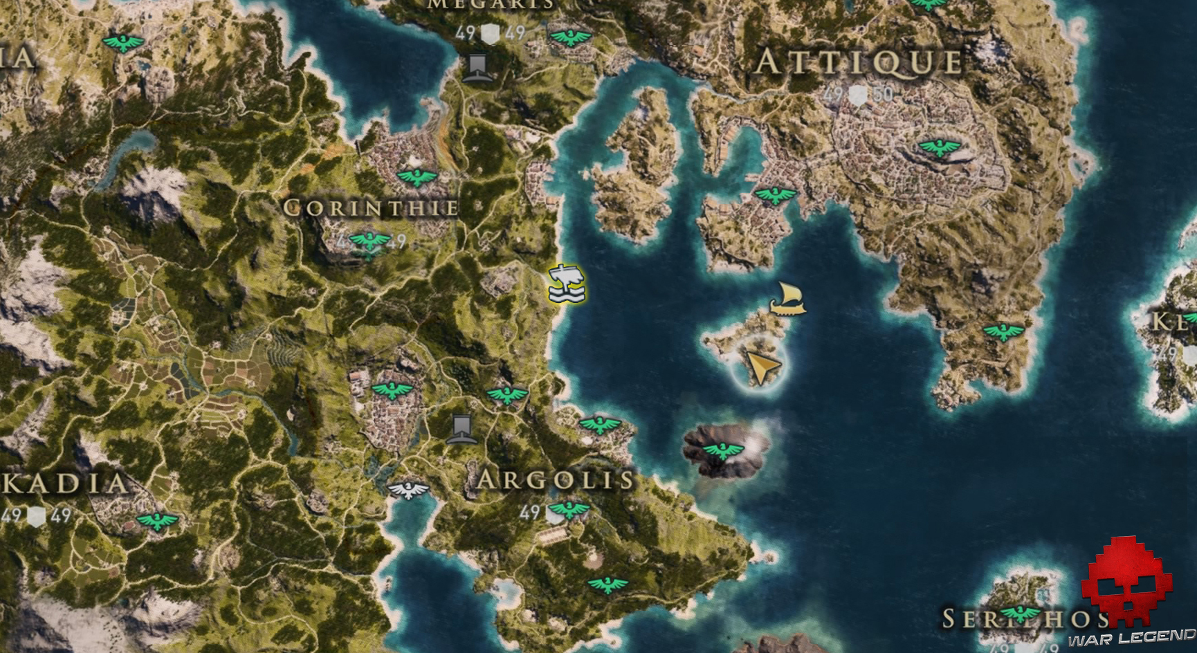 Guide assassin's creed odyssey emplacement satyre