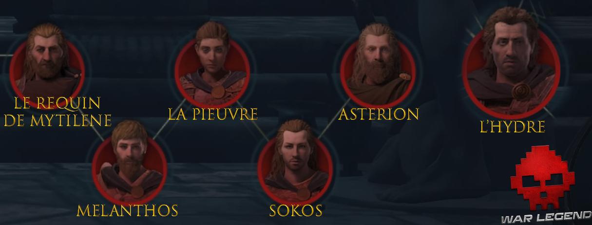 Guide asssassin's creed odyssey adeptes du Culte de Kosmos dieux de la mer égée