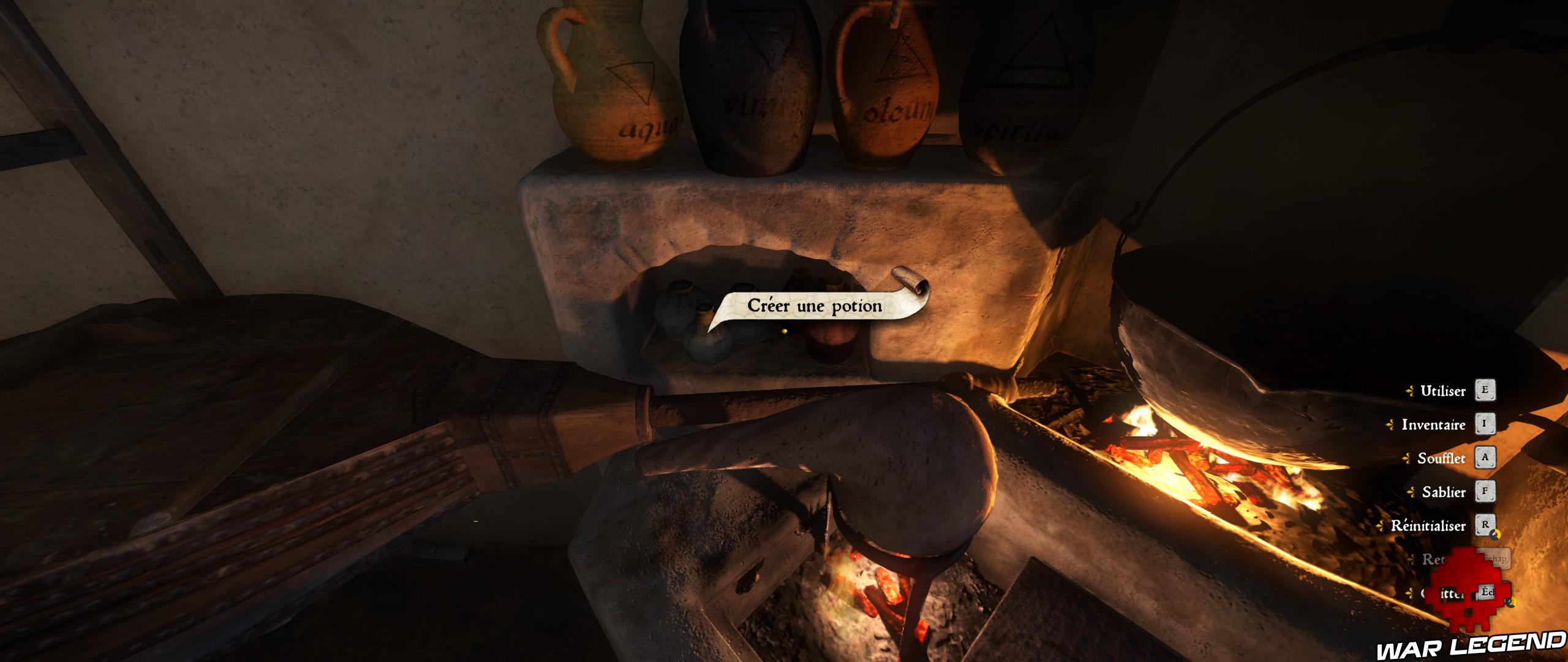Guide schnaps du sauveur KCD créer une potion