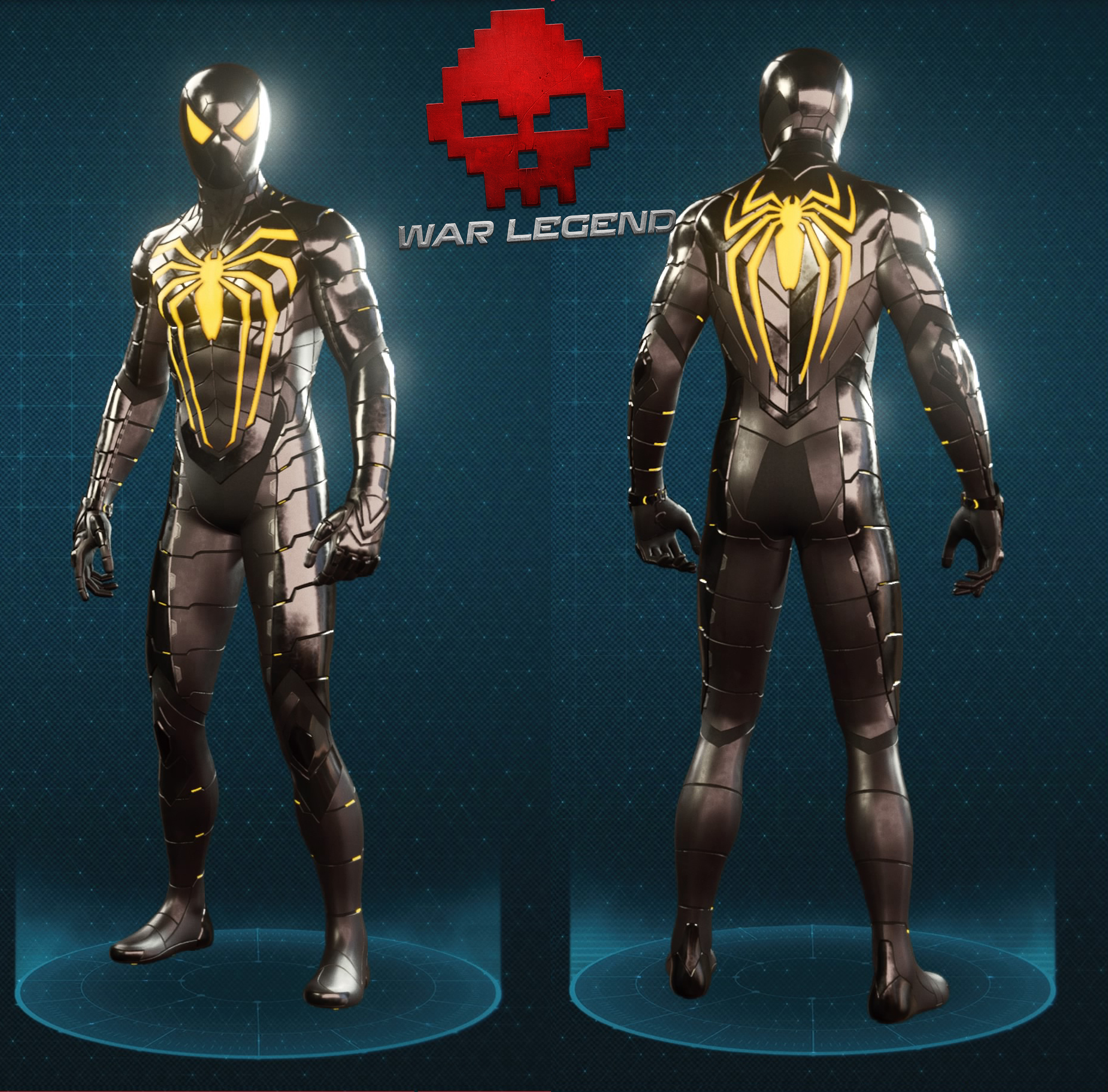 Guide spider-man costume anti-ock