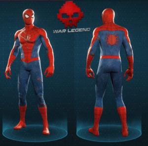 Guide spider-man costume classique endommagé