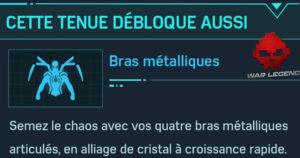 Guide spider-man costume iron spider bras métalliques