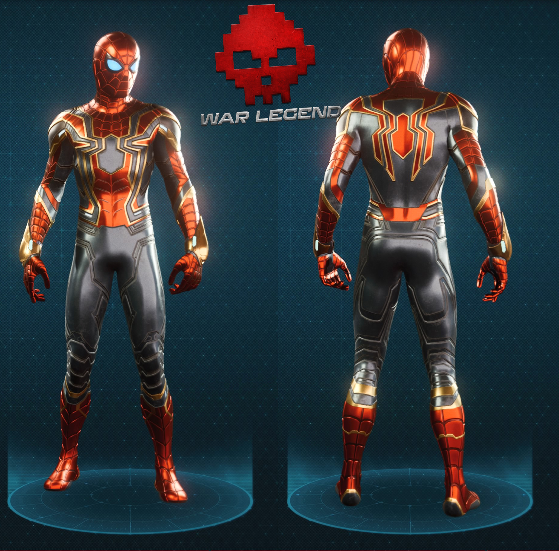 Guide spider-man costume iron spider