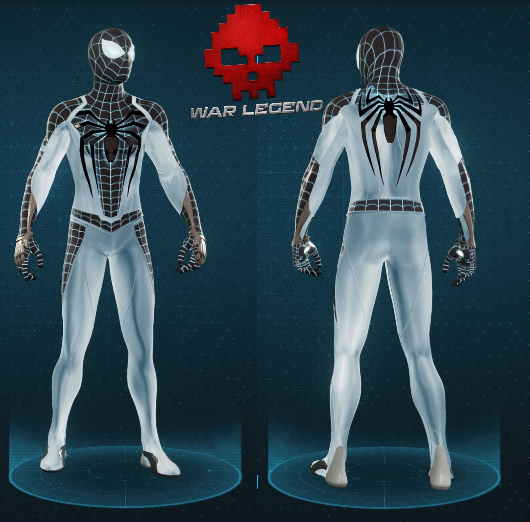 Guide spider-man costume négatif