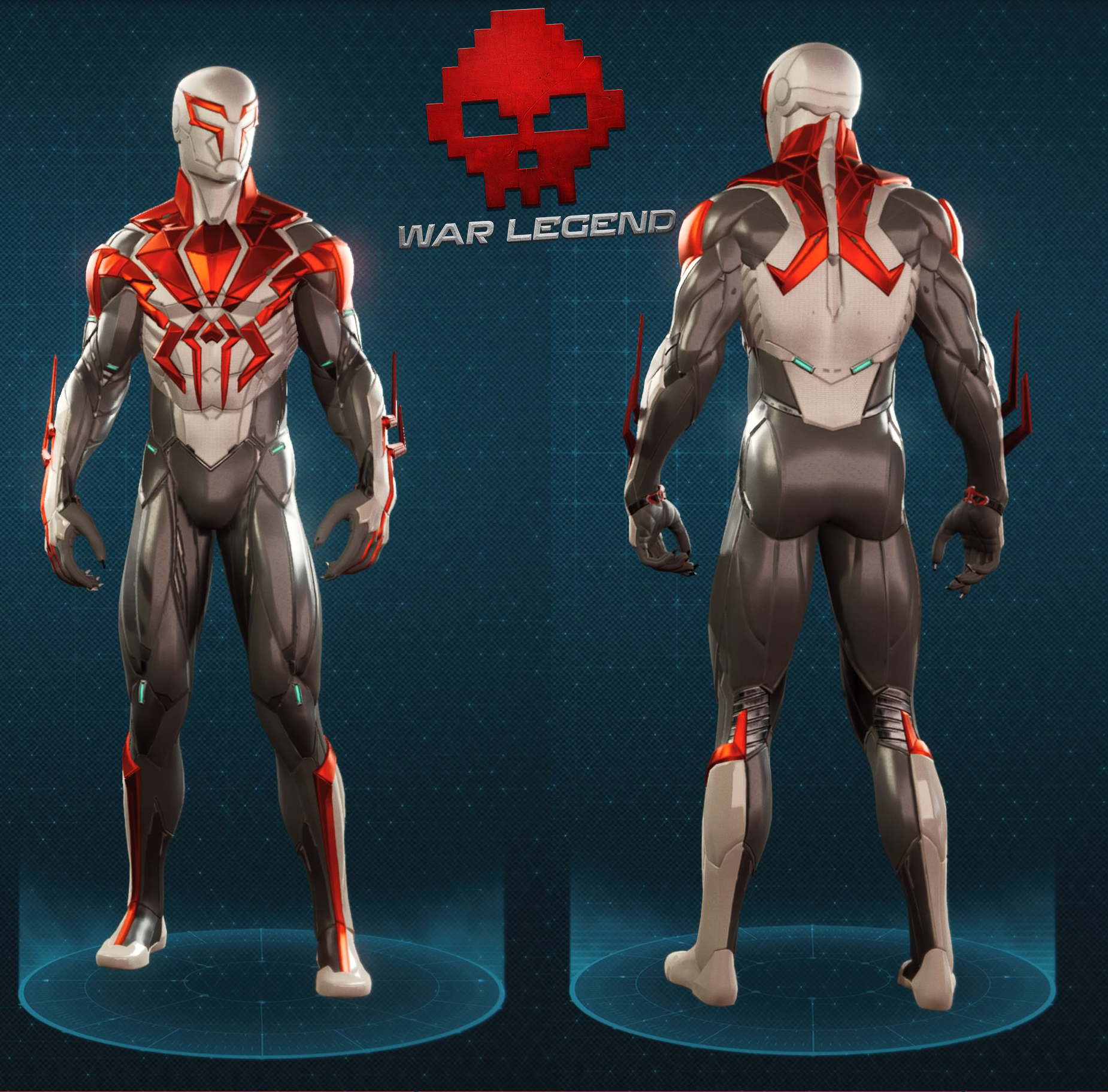 Guide spider-man costume spider-man 2099 blanc