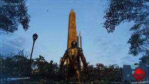 Spider-Man photo secrète Obélisque