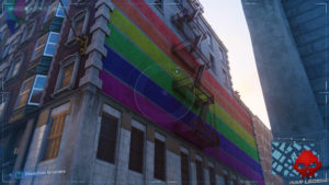 Spider-Man photo secrète Pride Flag