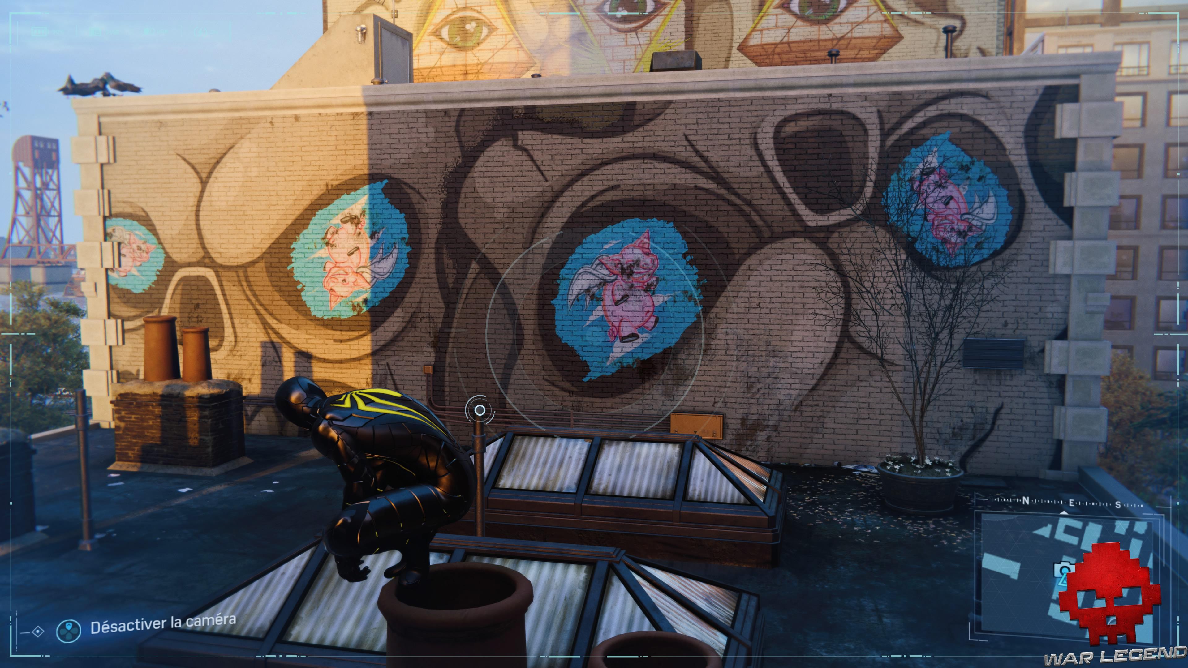 Spider-Man photo secrète - Graffiti sur les toits