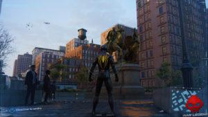 Spider-Man photo secrète Statue de Frederick Douglass