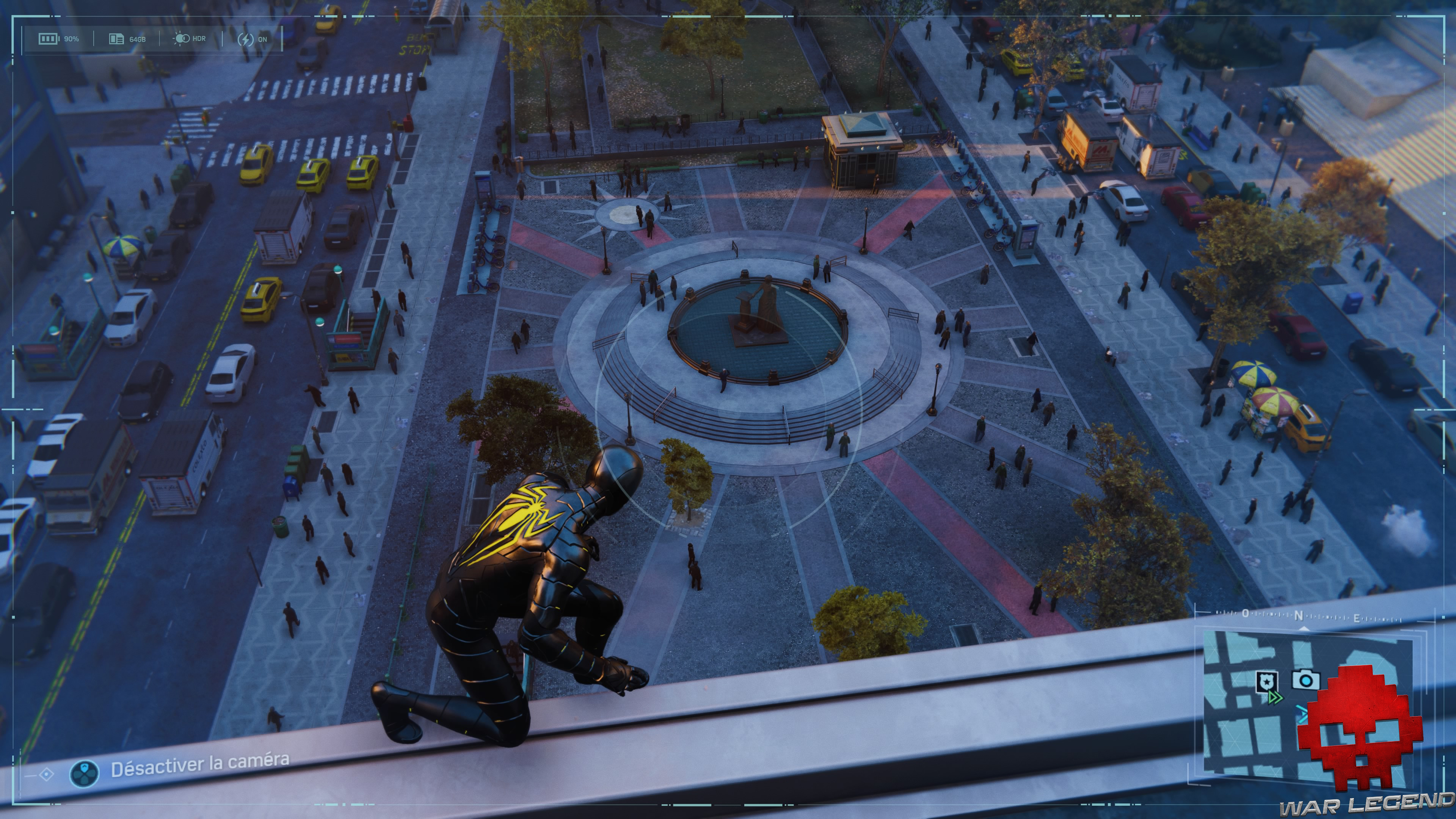Spider-Man photo secrète statue